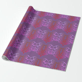 Purple And Pink Pattern Wrapping Paper