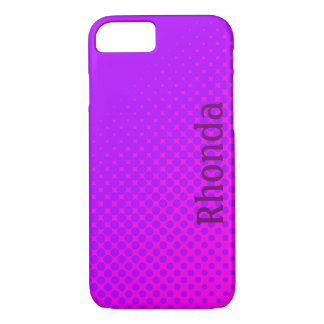 Purple and Pink Polka Dots iPhone 7 Case
