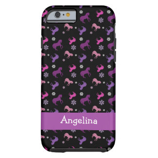 Purple and Pink Pony Winter iphone 6 Case