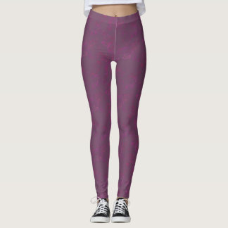 Purple and Pink Squiggles Leggings