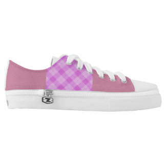 Purple and Pink Tartan Trainers! Printed Shoes