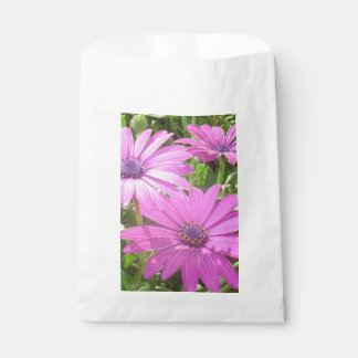 Purple And Pink Tropical Daisy Flower Favour Bag