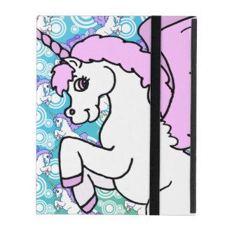 Purple and Pink Unicorn Pattern iPad Cover