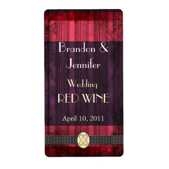 Purple and Pink Wedding Mini Wine Labels
