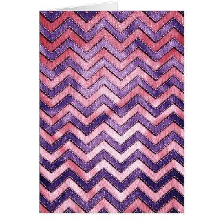 Purple and Pink Zig Zag Card