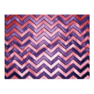 Purple and Pink Zig Zag Post Card