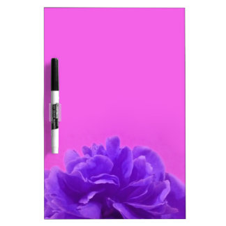 Purple and Raspberry Floral Art Dry-Erase Boards