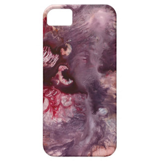 Purple and Red Abstract Art Barely There iPhone 5 Case