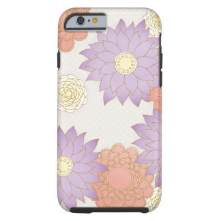 Purple and Red Floral Tough iPhone 6 Case