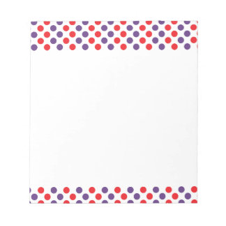 Purple and Red Polka Dots Notepad
