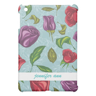 Purple and Red Roses Illustrations Case For The iPad Mini