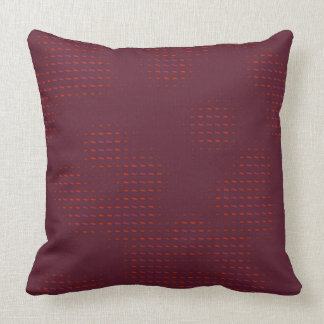 Purple and Red Spots Pillow