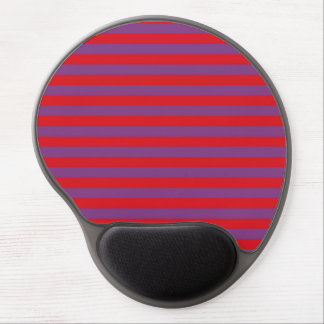 Purple and Red Stripes Gel Mousepad