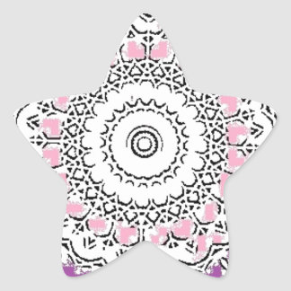 Purple and Rose Doily Star Sticker