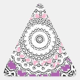 Purple and Rose Doily Triangle Sticker