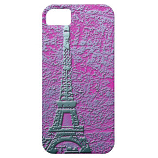 Purple and Silver Eiffel Tower Cell Phone Case