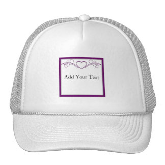 Purple and Silver Heart Scroll Hat