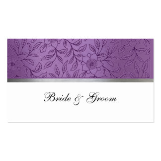 Purple and Silver Metallic Place Cards Pack Of Standard Business Cards