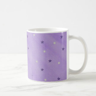 Purple and Silver Stars on Lavender, Mugs