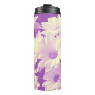 Purple and Soft Yellow Daisies Thermal Tumbler