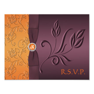 Purple and Tangerine RSVP Card