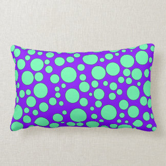 PURPLE AND TEAL BUBBLES THROW PILLOW
