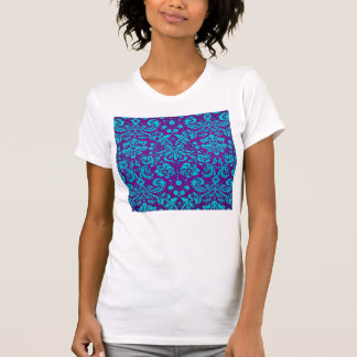 Purple and Teal Damask Pattern Shirts