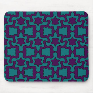 purple and turquoise mouse pad