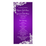 Purple and Vintage Floral Lace Wedding Program Rack Cards