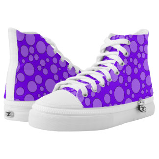 PURPLE AND VIOLET BUBBLES HIGH-TOP SNEAKER