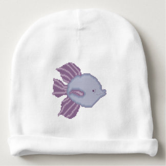 Purple and Violet Tropical Fish Baby Beanie