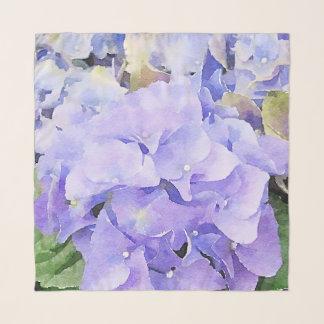 Purple and Violet Watercolor Hydrangea Scarf