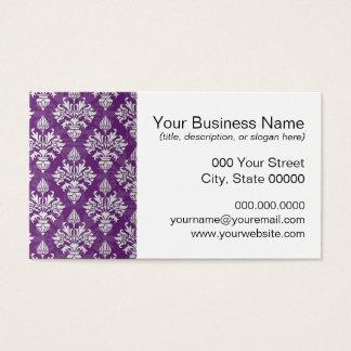 Purple and White Artichoke Damask Design