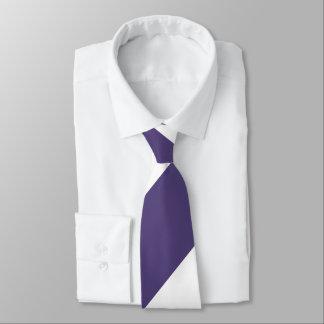Purple and White Broad Regimental Stripe Tie