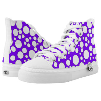 PURPLE AND WHITE BUBBLES HIGH-TOP SNEAKER