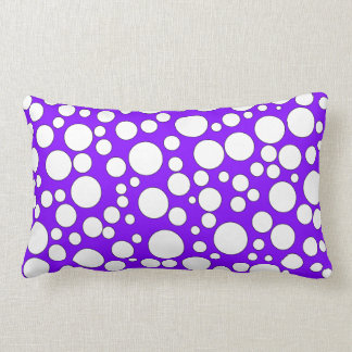 PURPLE AND WHITE BUBBLES THROW PILLOW