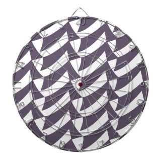 Purple and White Checks Dartboards