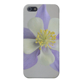 Purple and White Columbine 4/4s Cover For iPhone 5/5S