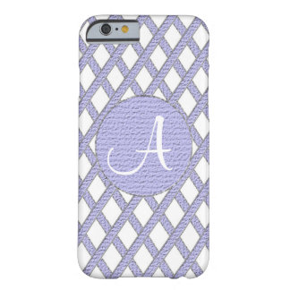 Purple and white crisscross monogram cell phone ca barely there iPhone 6 case