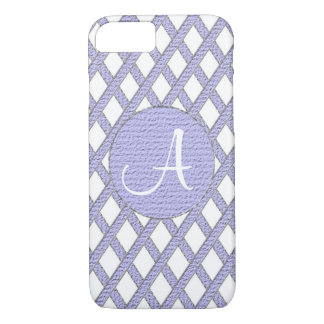 Purple and white crisscross monogram cell phone ca iPhone 7 case