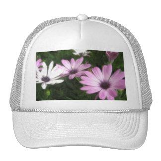 Purple and White Daisies 1 Painterly Mesh Hats