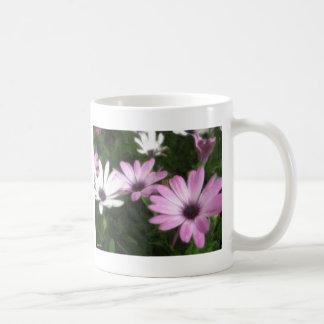 Purple and White Daisies 1 Painterly Coffee Mugs