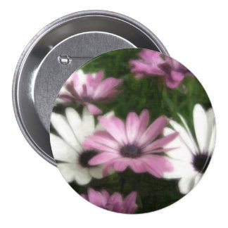 Purple and White Daisies 2 Painterly Pins