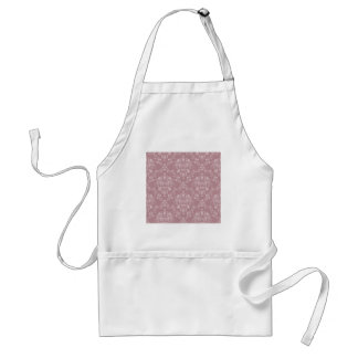 Purple and White Damask Standard Apron
