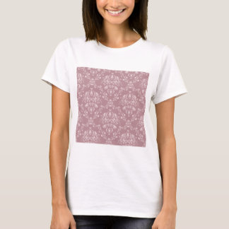 Purple and White Damask T-Shirt