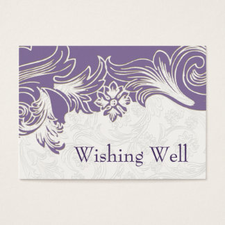 Purple and White Floral Spring Wedding Business Card