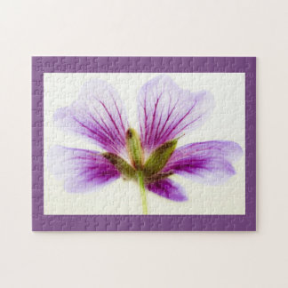 Purple and White Flower Puzzle