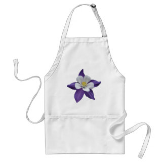 Purple and White Flower Standard Apron