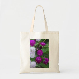 Purple And White Flowered Tote Tote Bag