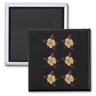 Purple And White Flowers Magnet
